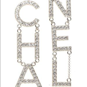 Jewelry - Crystal Cha-Nel drop earrings